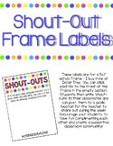 Editable Shout-Outs Labels