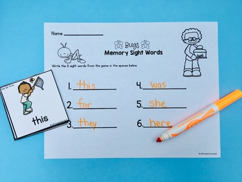Editable Sight Word Activities - Bugs | Distance Learning