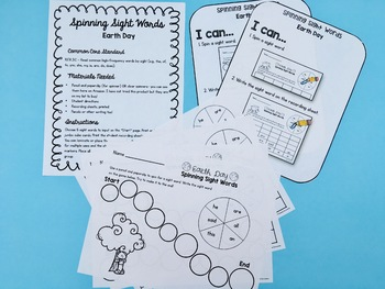 Editable Sight Word Activities - Earth Day | Distance Learning