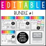 Editable Sight Word Activities:  GROWING BUNDLE #1