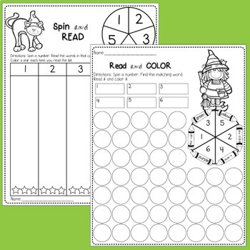 Editable Sight Word Worksheets and Game (Halloween)