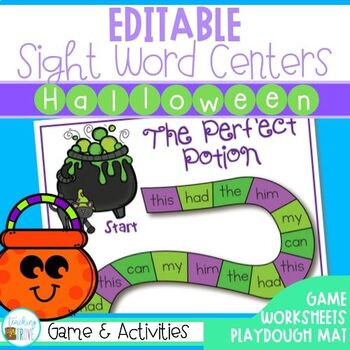 Editable Sight Words and Game