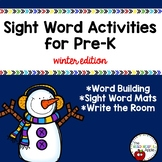 Editable Sight Word Activities for Beginning Readers {Wint