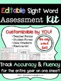 Editable Sight Word Assessment Kit