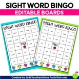 Editable Sight Word Bingo Cards