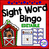 Editable Sight Word Bingo Game - Christmas Reindeer