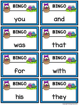 Editable Sight Word Bingo Game - Easter Bingo