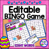 Editable Sight Word Bingo Game - Easter Bingo