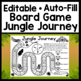 Editable Sight Word Board Game {Jungle Journey} {Editable with Auto-Fill!}