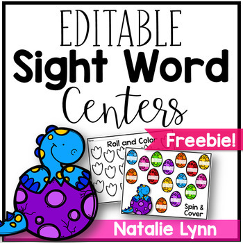 Editable Sight Word Centers