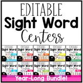 Editable Sight Word Centers Bundle