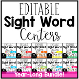 Editable Sight Word Centers Bundle