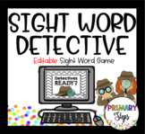 Editable Sight Word Detective Game!
