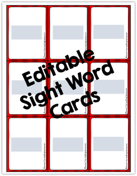 Editable Sight Word Dice Games