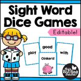 Editable Sight Word Dice Games
