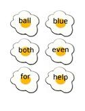 Editable Sight Word Egg Flip Game, 2nd Grade, 300 Wonders words & recording