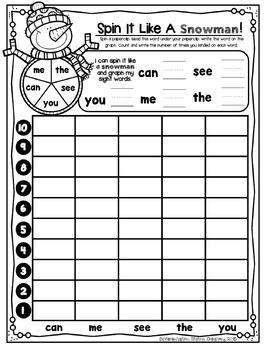 Editable Sight Word Fluency