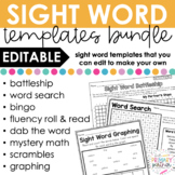 Editable Sight Word GROWING Bundle