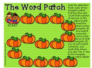 Sight Word Game with Pumpkin Theme