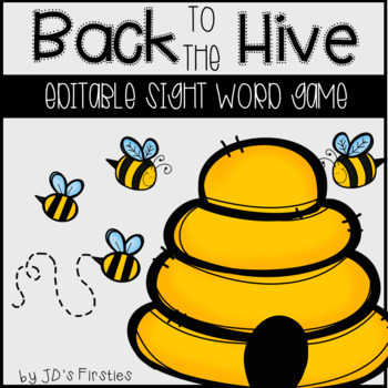 Editable Sight Word Game: Back to the Hive