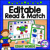 Editable Sight Word Game Board - Earth Day Read and Match Game