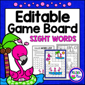 Editable Sight Word Game Board - Flamingo Fun