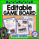 Editable Sight Word Game Board - Rock Band