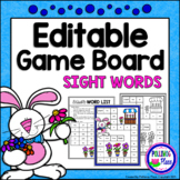 Editable Sight Word Game Board - Spring Flower Stand