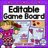 Editable Sight Word Game Board - Valentine's Day