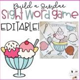 Editable Sight Word Game - Ice Cream Sundae