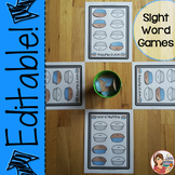 Sight Word Games {Editable}