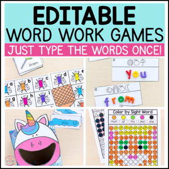 Editable Sight Word Games for Your Literacy Centers