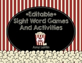 Editable Sight Word Games & Activities