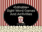 Editable Sight Word Games & Activities