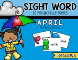 Editable Sight Word Games // April Edition