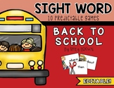 Editable Sight Word Games // Back to School Edition