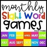 Editable Sight Word Games - Monthly Bundle