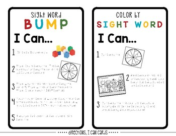 Editable Sight Word Games // October Edition
