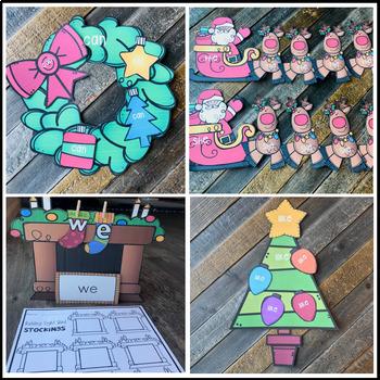 Christmas Sight Word Games, Printables & Activities EDITABLE (Holiday)