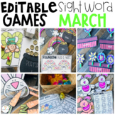 Editable Sight Word Games, Printables & Activities March (Spring, Weather)