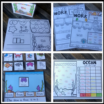 Editable Sight Word Games, Printables & Activities for Spring (Zoo, Ocean) May