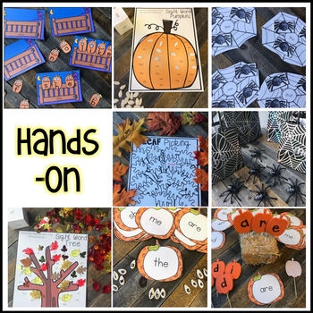 Editable Sight Word Games, Printables and Activities October Pumpkin and Fall