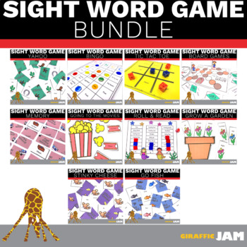 Editable Sight Word Games for Elementary Students