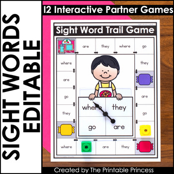 image regarding Sight Word Games Printable titled Editable Sight Term Online games for Kindergarten