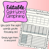 Editable Sight Word Graphing