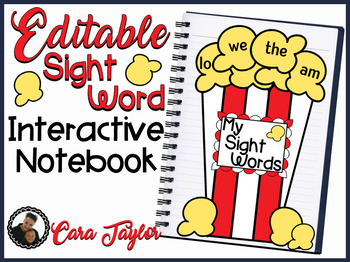 Editable Sight Word Interactive Notebook