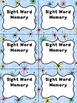 Editable Sight Word Memory Game