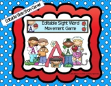 Editable Distance Learning Sight Word Movement Game