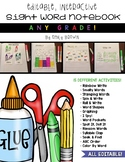 Editable Sight Word Notebook