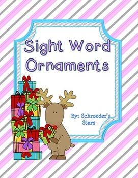 Editable: Sight Word Ornaments